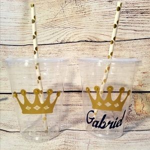 Royal Baby Prince Personalized Baby Shower Cups